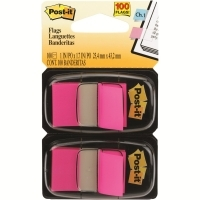 3M Post It Flags 680-BP2 Fluoro Pink Twin Pack 2 Cards of 50