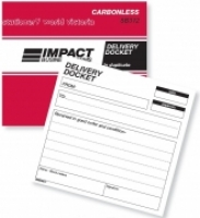 Delivery Docket Book Duplicate 4x5 Carbonless Impact SB312