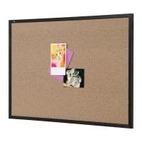 Quartet Corkboard Economy Black Frame QTNNCB0906 900x600