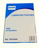 Premier Laminating Pouch A3 80micron BX100