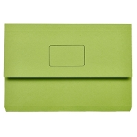 Marbig Slimpick Document Wallet Manilla Foolscap 4004004 GREEN