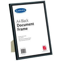 Carven Document Frames A4 Black BX6 QFWDBLKA4