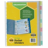 Divider A4 PVC Insertable Pocket 10Tab 35081