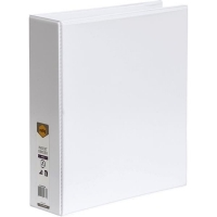 Marbig Clearview Insert Binder A4 4D 50mm (400page) White BX12