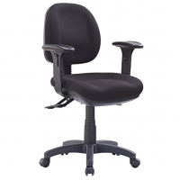 Style P350C-MB Task Office Chair Low Back +Arms - Black