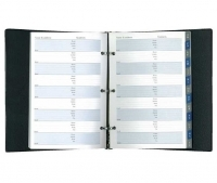 Debden Telephone Address Book 3ring 2710.V99  214x140mm Black