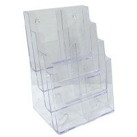 Deflecto Brochure Holder DL 4Tier/2Wide (8Pocket) 77451