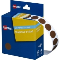 Avery Dispenser Label 14mm Brown BX1050