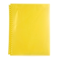 Marbig A4 Refillable Display Book 20pocket 2007305 Yellow