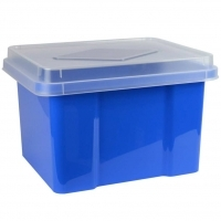Italplast Storage Box 32 litre 307FBB Blueberry+ClearLid