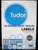 Tudor Laser Inkjet Labels A4 BX100 141076 (30/sh) 63x25.4mm