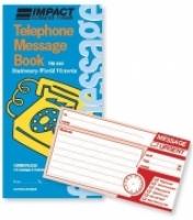 Telephone Message Book Carbonless PK10 Impact TM343