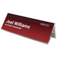 Deflecto Name Card Holder Tent Style A5 48701 210(W)x75mm(H)