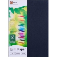 Quill Coloured Paper A4 80gsm Pack 500 - Black