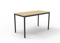 Rapidline Steel Frame Drafting Height Table 1800x900x900 Oak