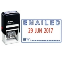 Shiny Self-Inking Date Stamp S410 Emailed/Date