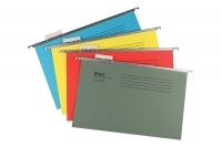 Stat Suspension Files Foolscap With Tabs & Inserts Assorted 20PK