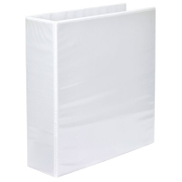 Marbig Clearview Insert Binder A4 3D 65mm (500page) White BX15