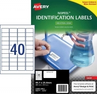 Avery L6145 No Peel Tamper Evident Labels PK10sh 40/sh