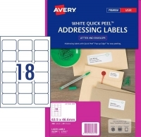Avery Laser Label L7161 PK20 18/sheet