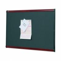 Quartet Prestige Felt Pinboard Mahogany Grey Diamond 1200x900