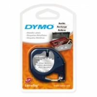 Dymo Letratag Labelling Tape PVC 91208 Silver