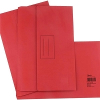 STAT DOCUMENT WALLET FOOLSCAP Manilla Red