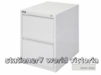 Rapidline Filing Cabinet 2 Drawer Silver Grey