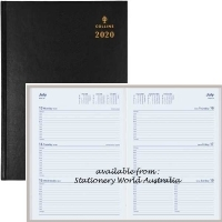 Collins 2020 Sterling Diary A4 Week Open Black 344.P99