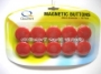 Quartet Whiteboard Buttons Magnetic 40mm Pkt10 Red