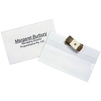 Rexel Magnetic Name Clip Convention Badge Pkt10 98600