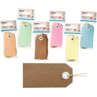 AVERY TAG-IT DURABLE TABS Shipping Tag Size 3 PK24 Brown Kraft
