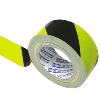STYLUS 210 Hazard Cloth Tape  48mm x 25M Black/Yellow