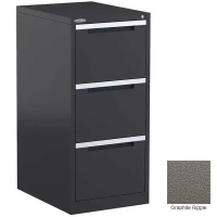 Steelco Filing Cabinet 3 Drawer Graphite Ripple