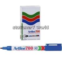 Artline 700 Marker Permanent Fine Bullet Blue BX12