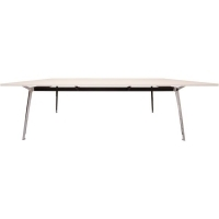 Rapid Air Boardroom Table  white top Single Stage 2400x1200mm