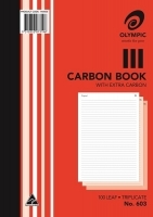 Carbon Book Triplicate A4 100LF Olympic 603