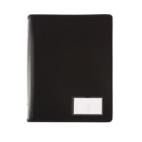 Bantex A4 Zipper Binder 2D Ring 25mm Black