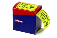Avery Dispenser Label 75x99.6mm PK750 Printed GLASS WITH CARE