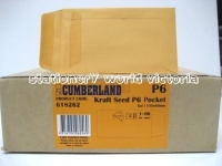 Cumberland Envelope 135x80 P6 Seed PressSeal Gold 85g BX1000