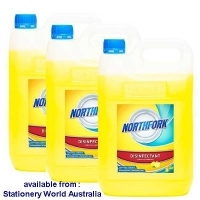 Northfork Disinfectant Lemon 5Ltr PK3