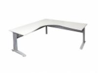 Rapid Span Corner Workstation 1800x1200x700 White Silver/Leg