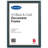 Carven Document Frames A3 Black/GoldTrim BX4 QFWBKGLDA3