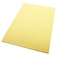 Ruled Office Pads A4 Quill Yellow 70LF (Bond) PK10  01011