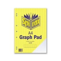 Spirax Graph Pad 805 A4 5mm 25Leaf T/0 Pack 10