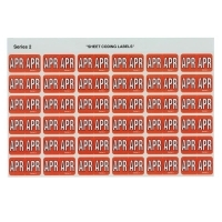 Avery Coding Label Month PK180 43404 (APR) 25x38mm Red