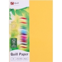 Quill Coloured Paper A4 80gsm Pack 500 - Sunshine