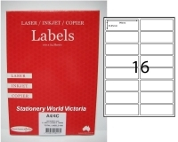 Rediform Labels Multipurpose A4 BX100 LA4/16L (16/sh) 99x38.85
