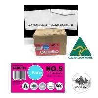 Tudor Envelope 130x180 MoistSeal 100g White Plain BX500 140094