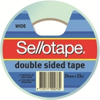 Sellotape Double Sided Tape 404 24mm x 33M 960606